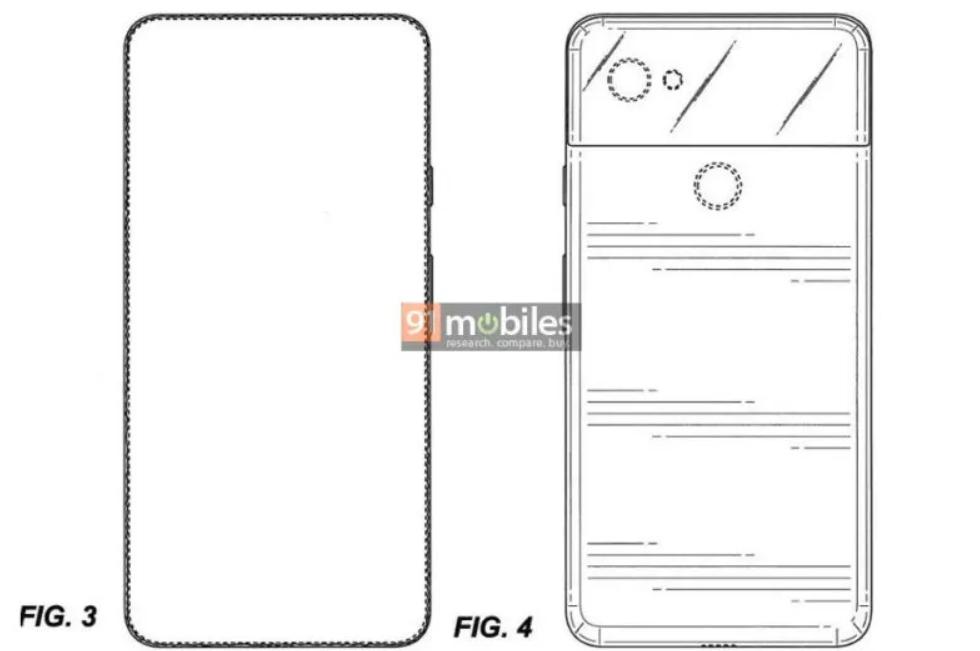 Google Pixel 4 randloos design patent