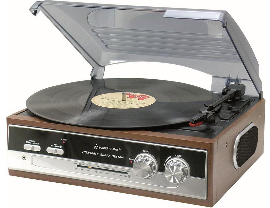 Soundmaster PL186 retro platenspeler-radio