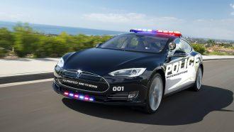 Tesla Elon Musk Politieauto