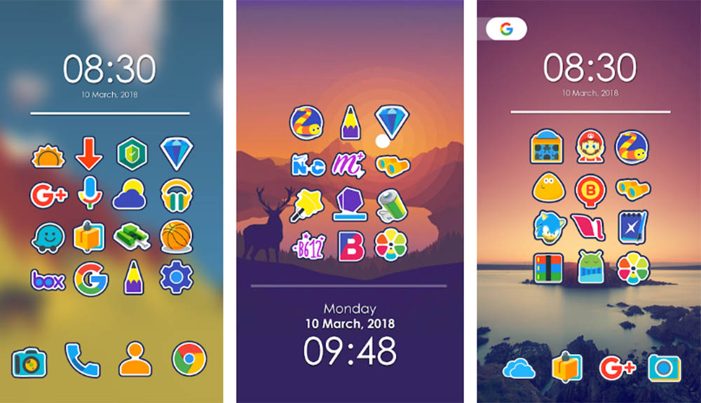 Android icon pack Morent