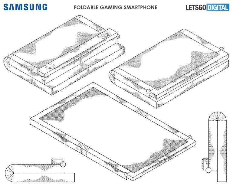 Samsung gaming opvouwbare smartphone patent