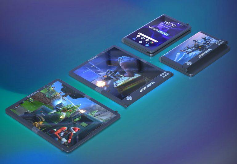 Samsung gaming opvouwbare smartphone patent