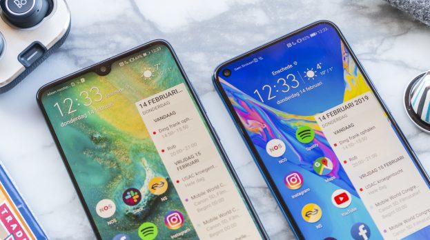 Honor View 20 vs Huawei Mate 20 notch
