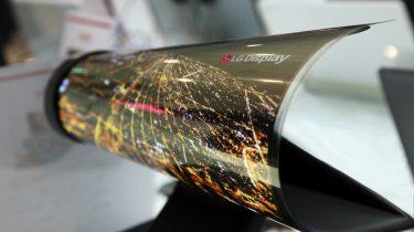 LG opvouwbare televisie geen smartphone
