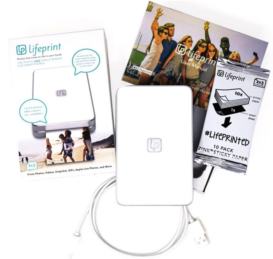 Lifeprint 2x3 mobiele foto- en videoprinter