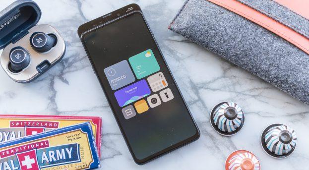Xiaomi Mi Mix 3 review snelkoppelingen