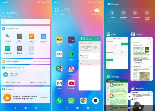 Xiaomi Mi Mix 3 screenshot interface