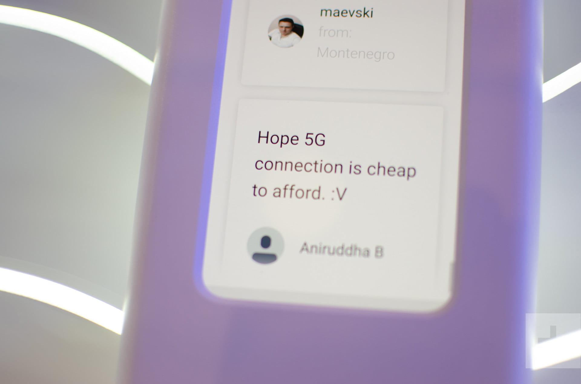 OnePlus 5G smartphone prototype