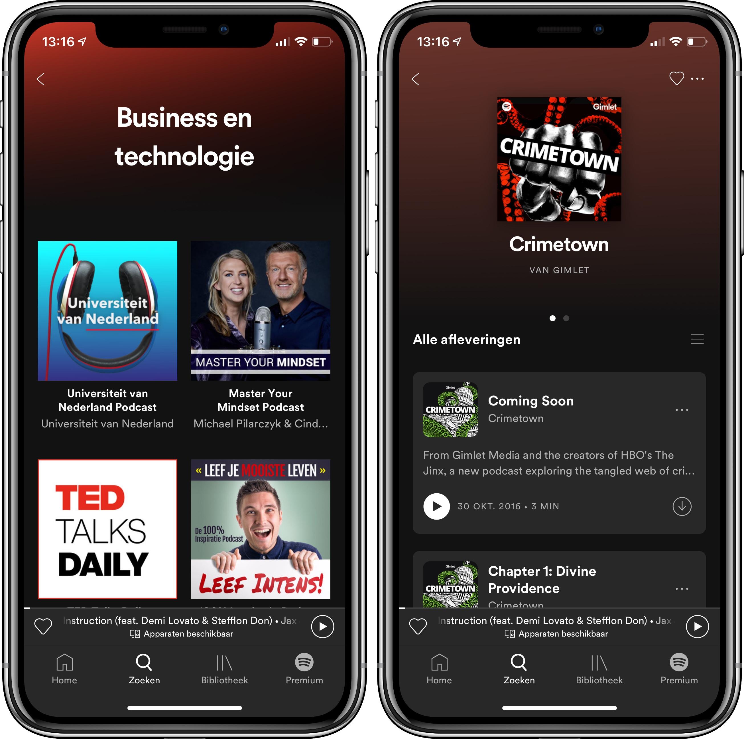 Spotify en podcasts