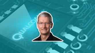 Apple Qualcomm Tim Cook