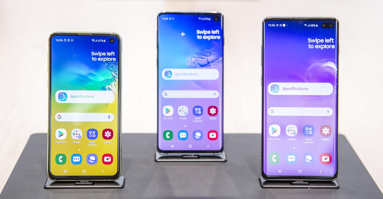 Samsung Galaxy S10e preview familie