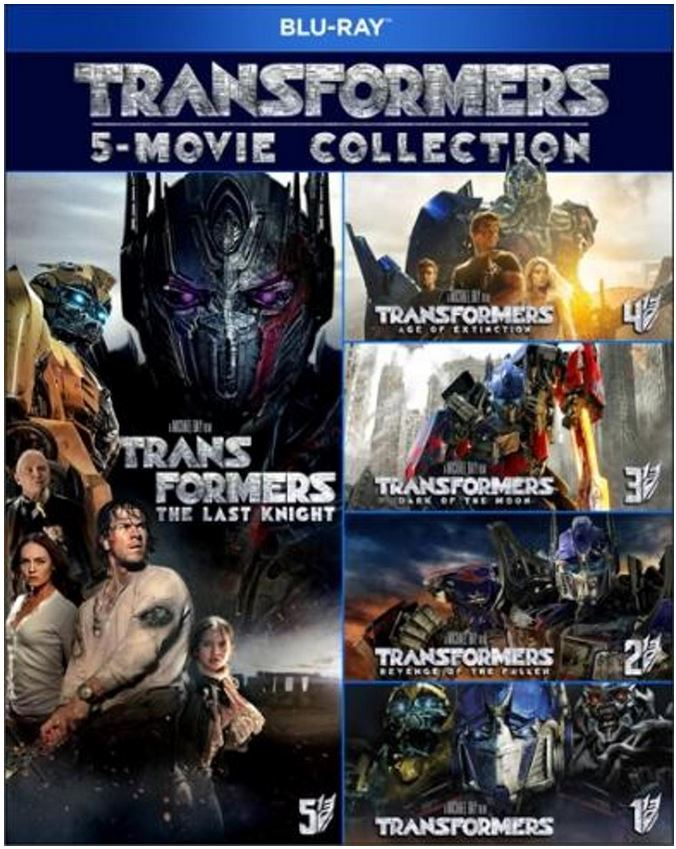 Transformers 1 tot en met 5 boxset