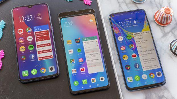 Honor View 20 vs Oppo RX17 Pro vs Xiaomi Mi Mix 3 design