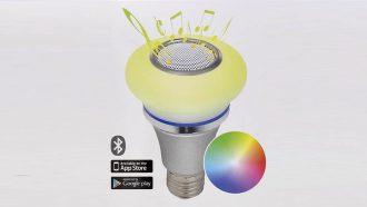 Action lamp met speaker