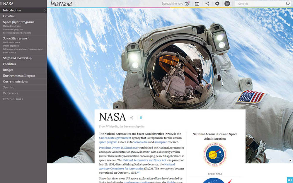 Google Chrome extensie Wikiwand