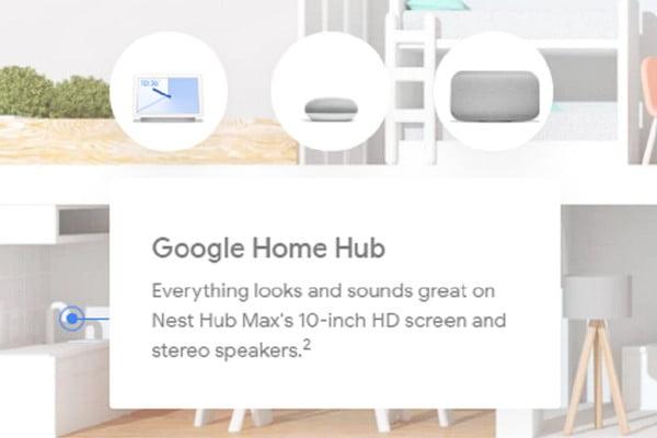 Google Nest Smart Hub gelekt