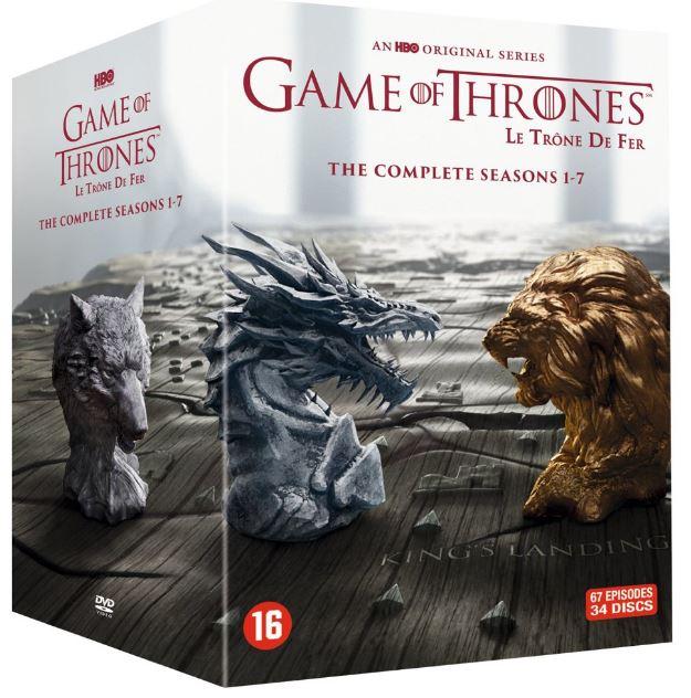 DVD-Box Game of Thrones seizoen 1 tot en met 7