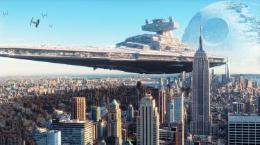 Star Wars ruimteschepen omvang