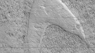 Star Trek logo NASA Mars