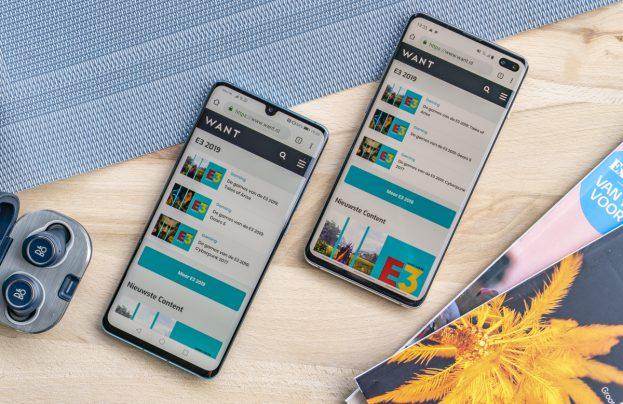 Samsung Galaxy S10 Plus vs Huawei P30 Pro design