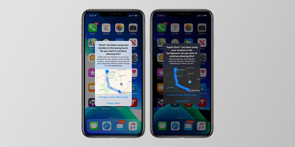 iOS 13 Tracking feature