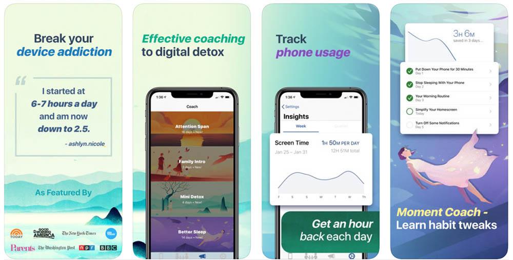 Moment app smartphone verslaving