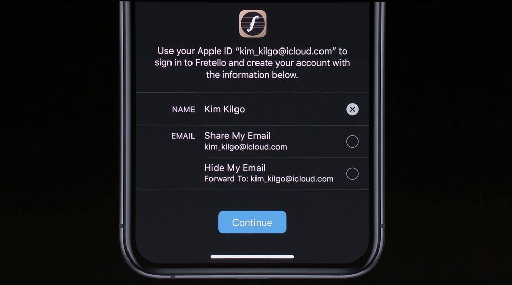 Sign in with Apple