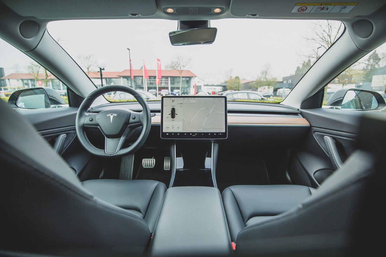 Tesla slapen achter het stuur