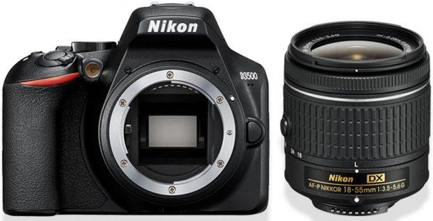 Nikon D3500 spiegelreflexcamera met zoomlens en compacte AF-P DX NIKKOR 18–55mm-zoomobjectief bij bol.com