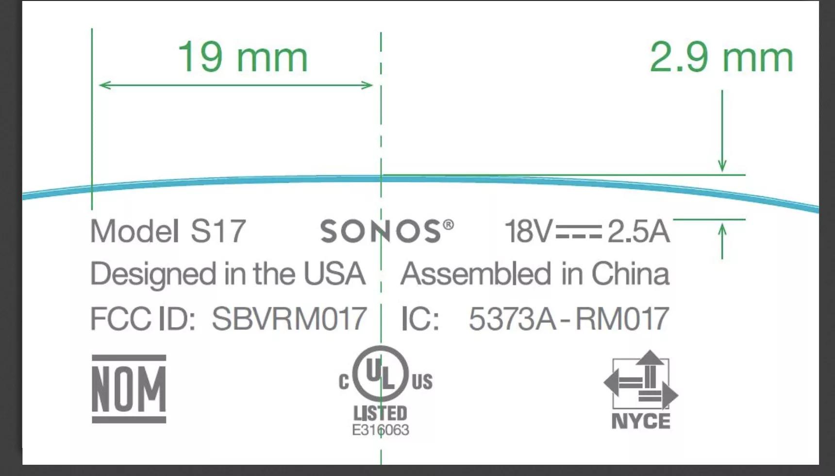 Sonos Model S17 speaker
