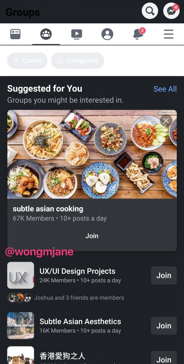 Facebook Dark Mode applicatie