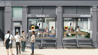 Facebook pop-up café