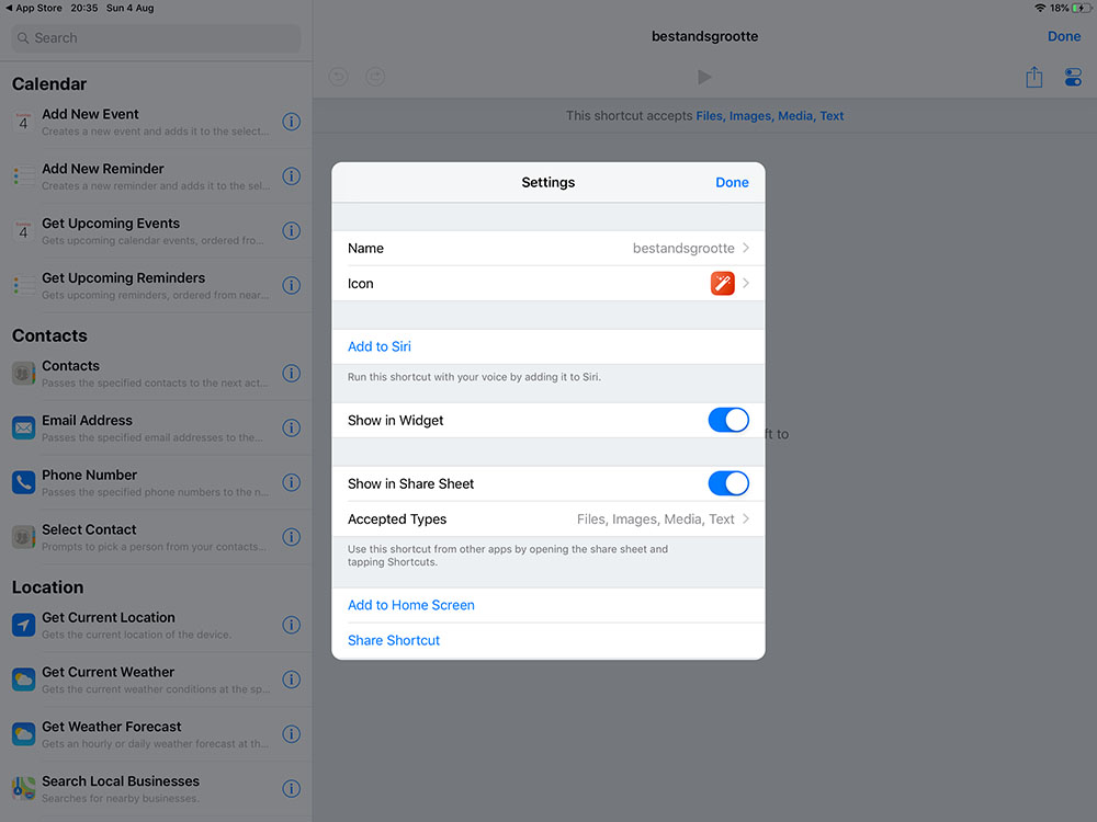Shortcuts Apple