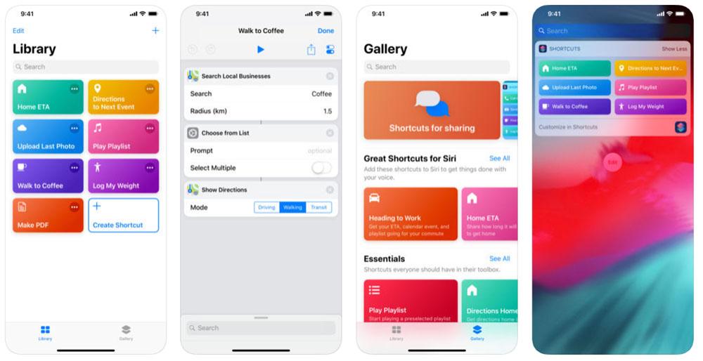 Shortcuts iPhone app