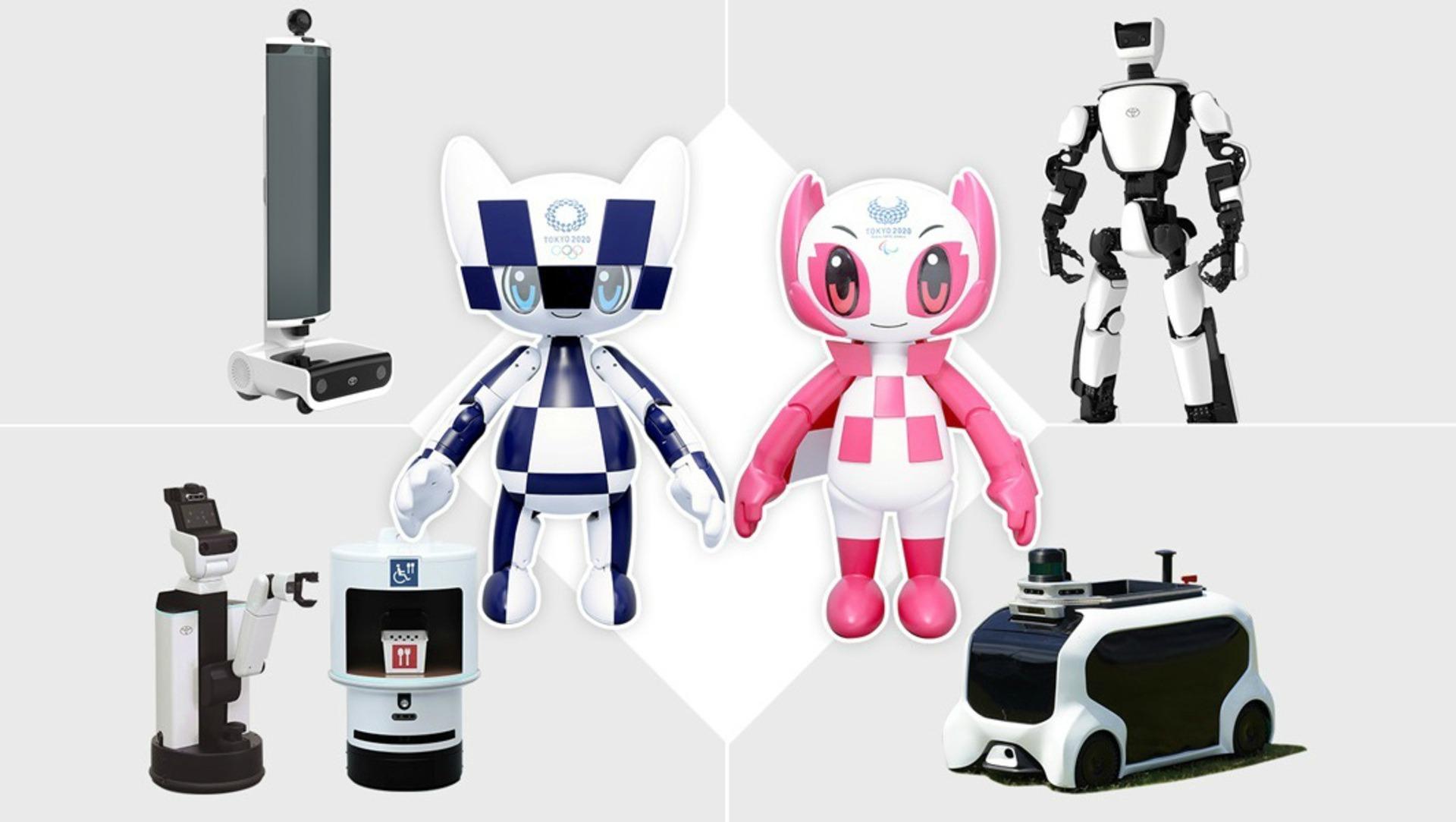 toyota, robots, tokyo 2020, tokio