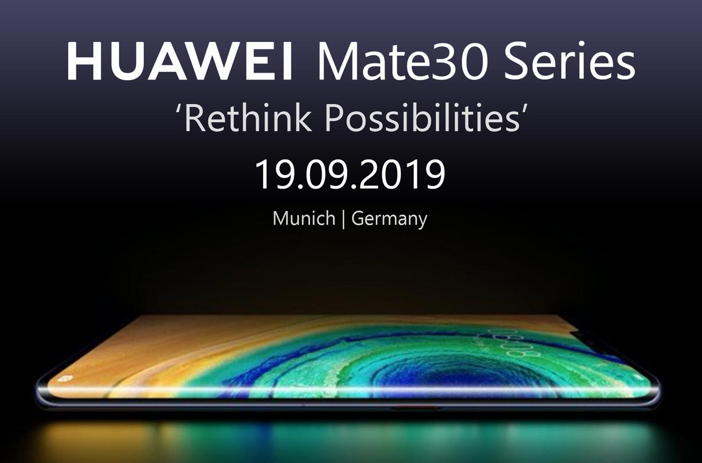 Huawei Mate 30 serie Europa