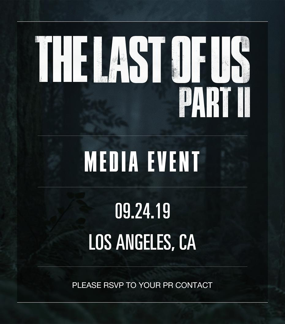 The Last of Us2 uitnodiging
