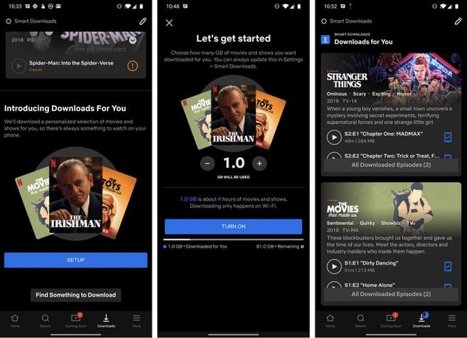 Netflix Downloads For You functie