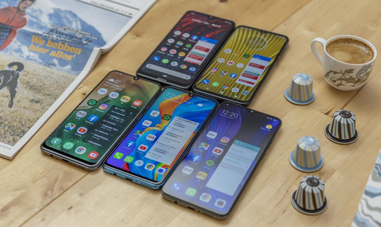 Budgetsmartphones vergelijking overzicht