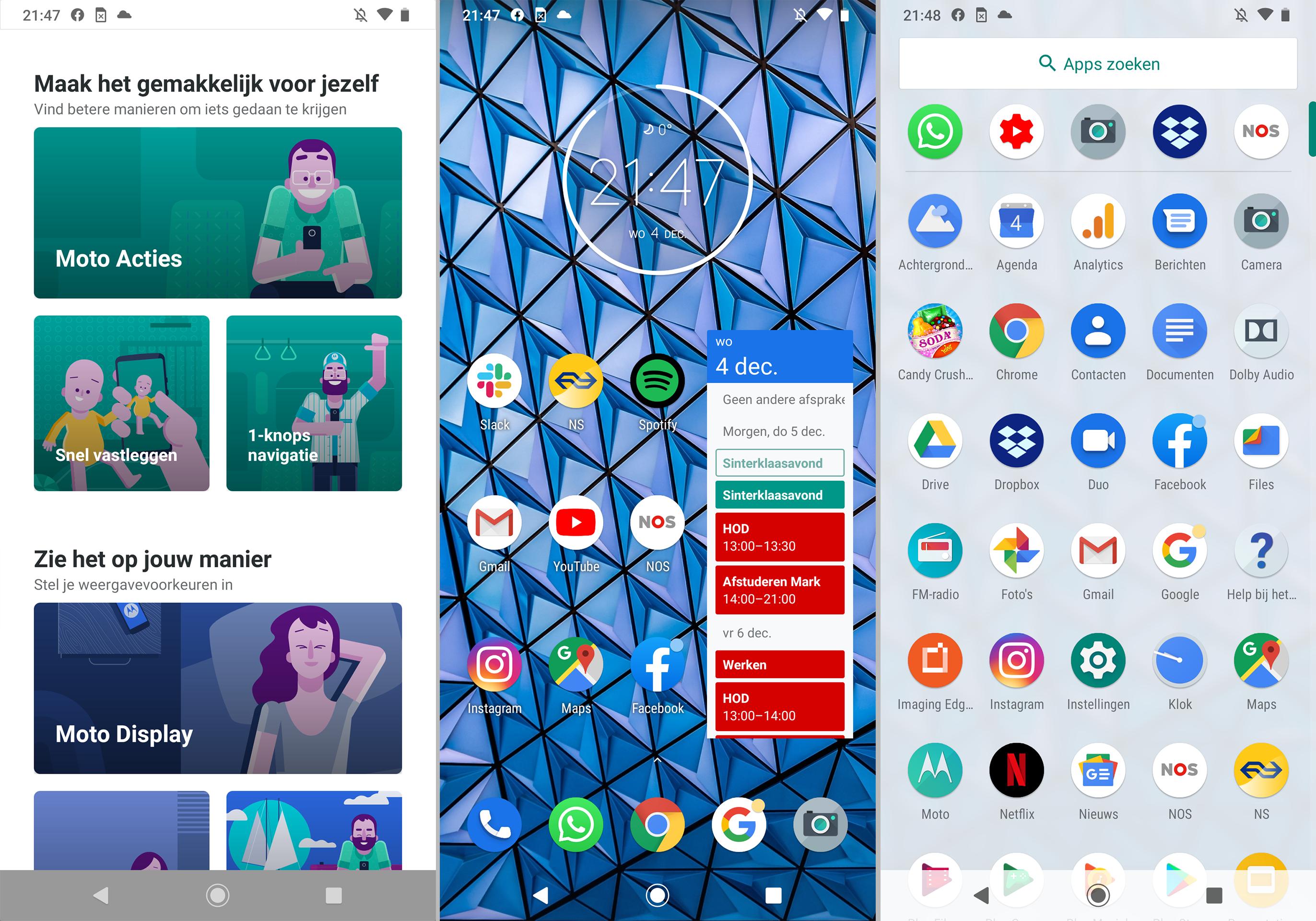 Motorola Moto G8 Plus screenshot software