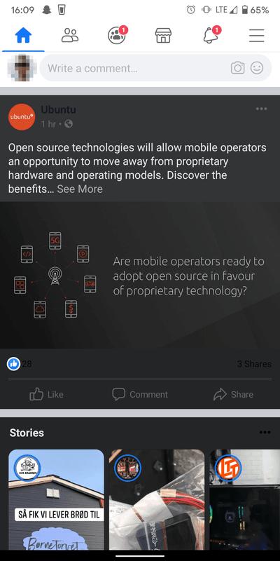 Dark Mode Android Facebook