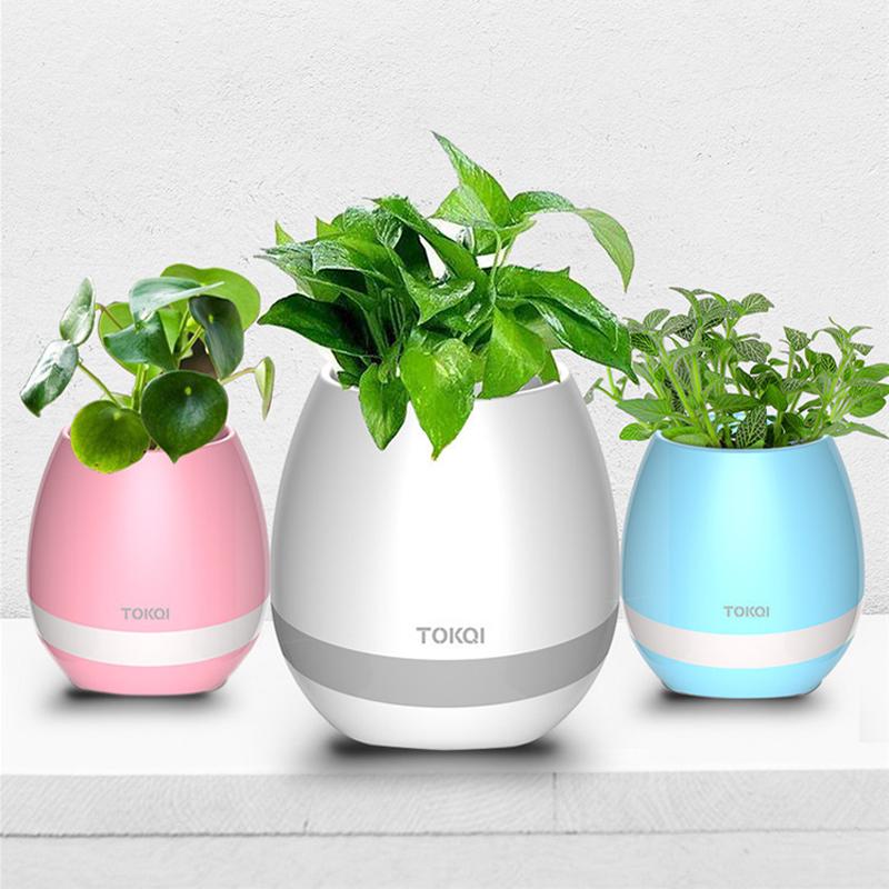 Bluetooth speaker plantenpot