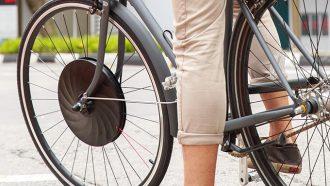 Kickstarter elektrische fiets UrbaNext elektrisch voorwiel