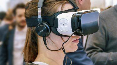 VR-bril in actie Virtual Reality