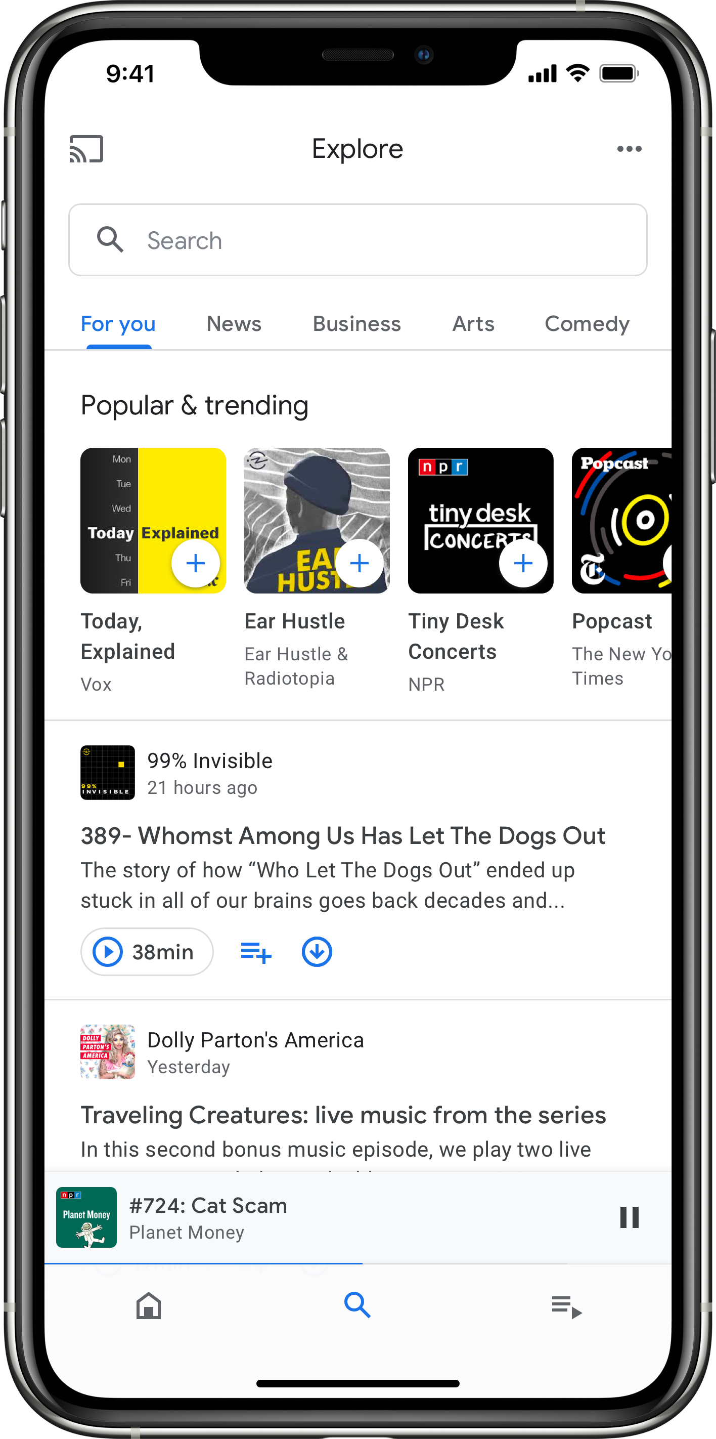 Google Podcasts iOS