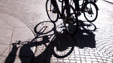 elektrische fiets e-bike op straat