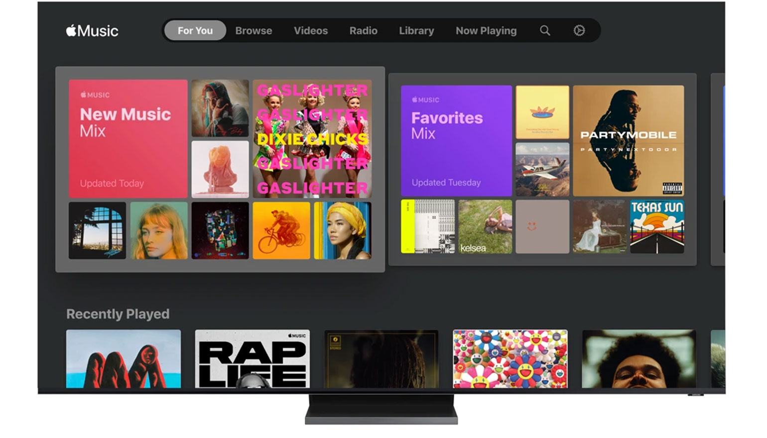 Apple Music op Samsung-tv's