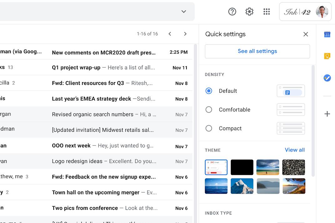 Google Gmail functies