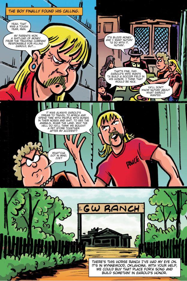 Tiger King stripboek Joe Exotic