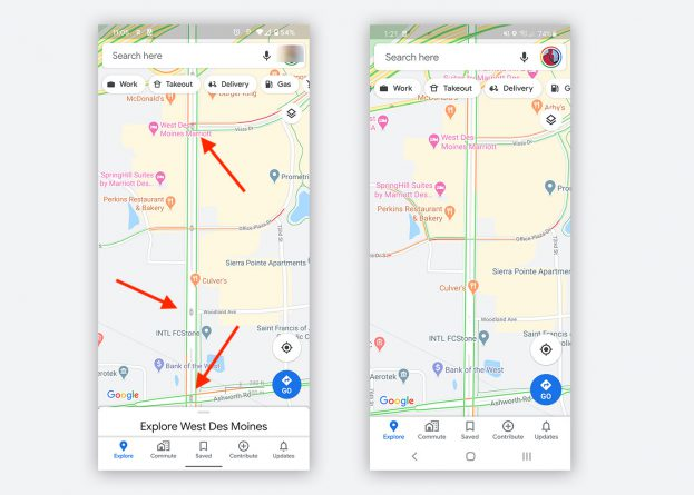 Google Maps verkeerslichten